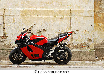 motorcycle - red motorcycle