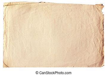 Vintage paper - Vintage old paper with clipping path