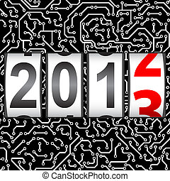 2013 New Year counter, vector.