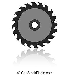 Circular saw blade on a white background Vector illustration...
