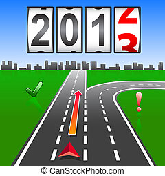 2013 New Year counter, vector