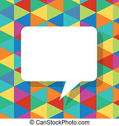 colorful abstract template with speech bubbles