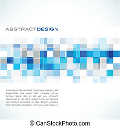 blue abstract banner - colorful abstract background, vector...