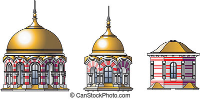 vector castle domes