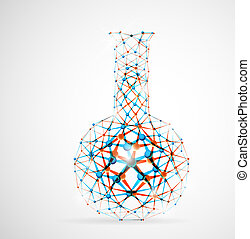 Chemical flask of the molecular structure Eps 10