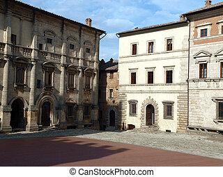Piazza Grande and Palazzo dei Nobili - Montepulciano,...