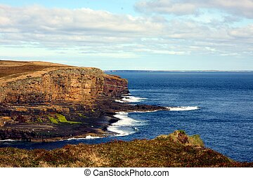 Cliffs on Orkney, UK