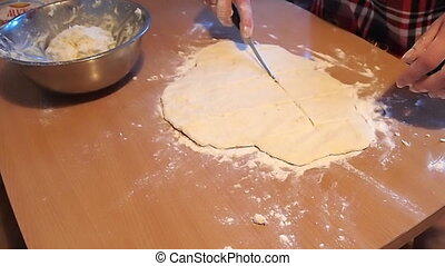 cottage cheese dough - cuts the curd dough