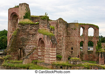 Roman bathhouse, Trier, Germany - Ruins of ancient Imperial...