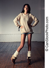 Young japanese woman fashion - Young slim japanese woman...