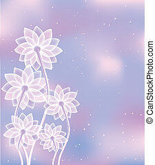 abstract white flowers