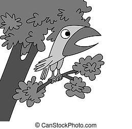 bird drawing on white background,