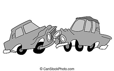 drawing of the cars on white background,