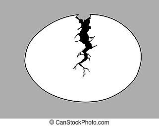 egg silhouette on gray background,