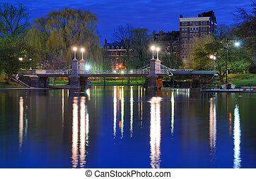 Boston Public Gardens - Lagoon Bridge at the Boston Public...