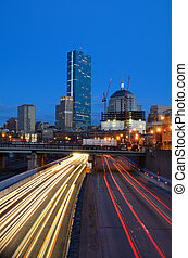 Boston Skyline from Harborwalk - Downtown Boston,...