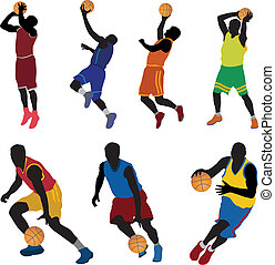 Basketball players. Vector for you design