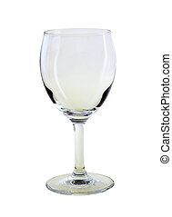 wine glas - Empty wine glass. isolated on a white background...