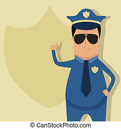 Policeman - Vector pattern for police announcement