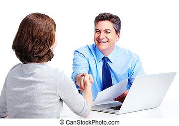 Executive businessman Isolated on white background