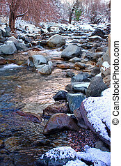 White River National Forest Colorado - Icy waters of Grizzly...
