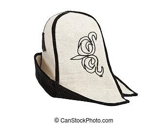 Kyrgyz hat  on white background