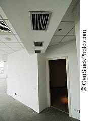 modernos, sob, construção, escritório