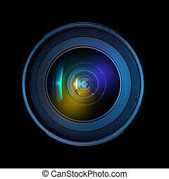 Wide DSLR lens - Close up image of a wide DSLR lens