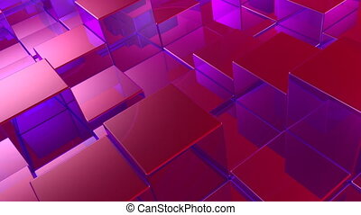 pink cubes - abstract pink cubes background