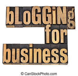 blogging for business - internet concept -isolated text in...