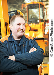 Portrait of experienced industrial fitter - Portrait of...