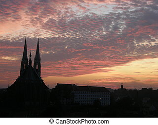 Sunset on the city Goerlitz, German - Sunset on the city...