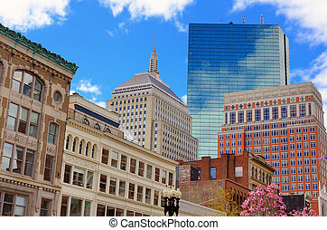 Boston Buildings - Cityscape in Back Bay Boston,...