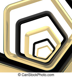 Abstract background made of pentagons