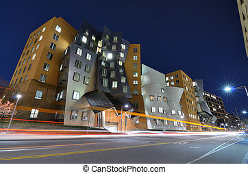MIT Campus - BOSTON - APRIL 5: Ray and Maria Stata Center on...