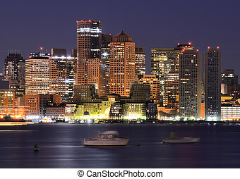 Boston Financial District Skyline - Financial District of...
