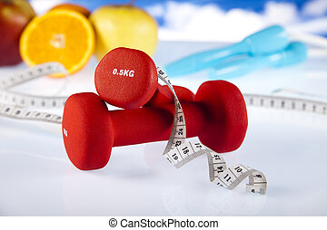 Weight loss, fitness - Healthy lifestyle concept, Fruit