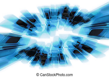 Abstract glass motion effect background