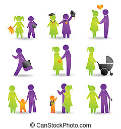 Life events icons - A vector illustration of live events...
