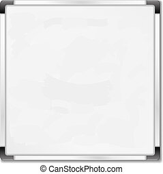 Square whiteboard on white background, vector eps10...