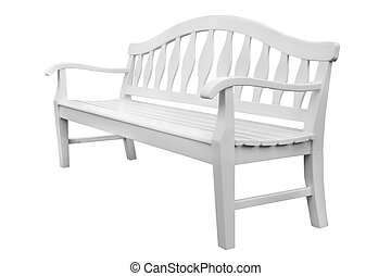 white bench isolated on the white background