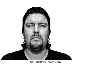 Mugshot of a Man with sad look - Mugshot of a Man with...