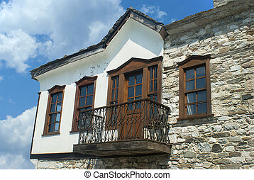Traditional house located at Limenas city in Thassos island, Greece