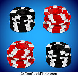 Casino chips stack