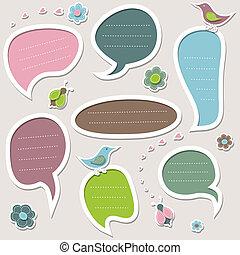 Cute speech bubbles