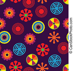Vector seamless funky pattern