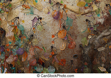 秋, 抽象的, グランジ, 背景