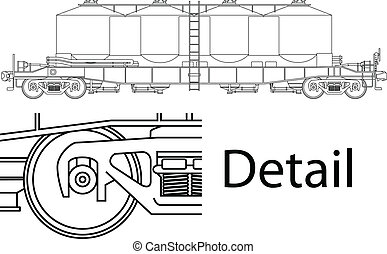 railway wagon - Vector high detailed flour carrying railway...