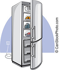 two door refrigerator