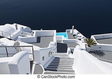 Imerovigli village at Santorini - Typical architecture...